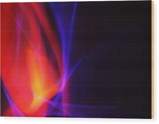 Painting With Light 5 Wood Print by Chris Rodenberg