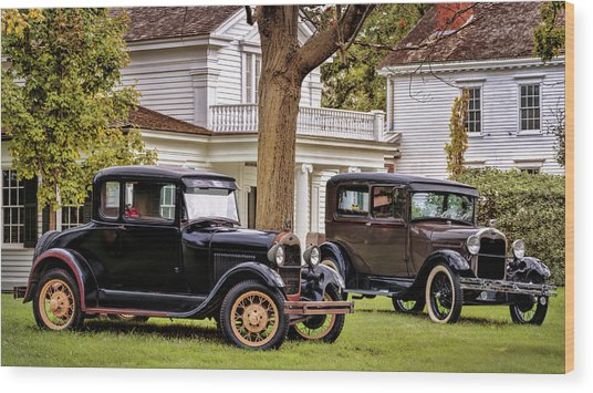 Pair Of Ford Model A  Wood Print
