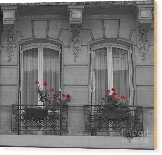 French Windows Wood Print