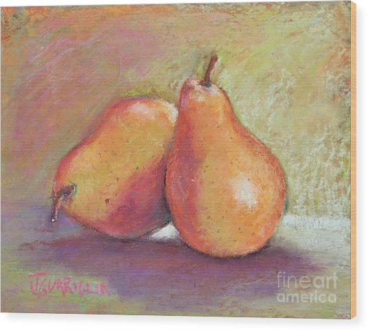 Pair Of Pears Wood Print by Joyce A Guariglia