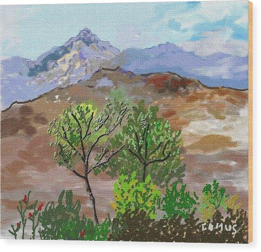 Paisaje- Chile-cerro Campana Wood Print by Carlos Camus