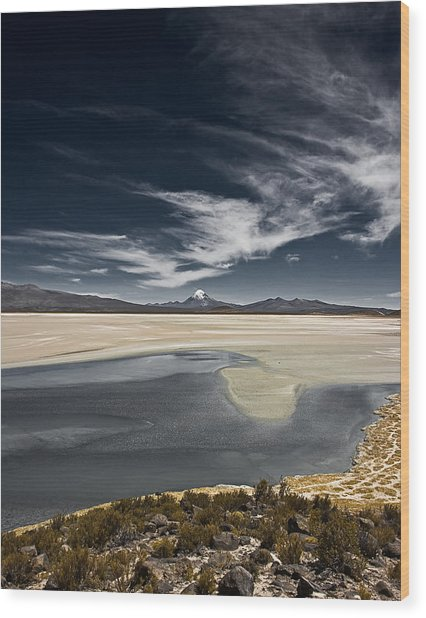 Sajama In The Distance Wood Print