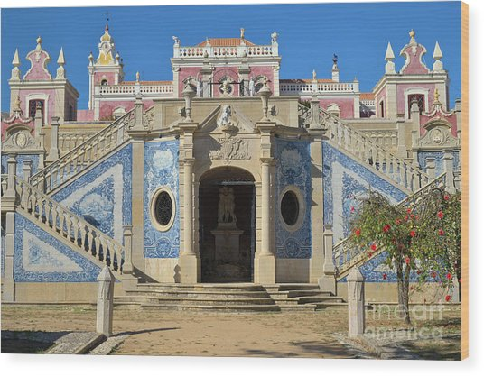 Palacio De Estoi Front View Wood Print