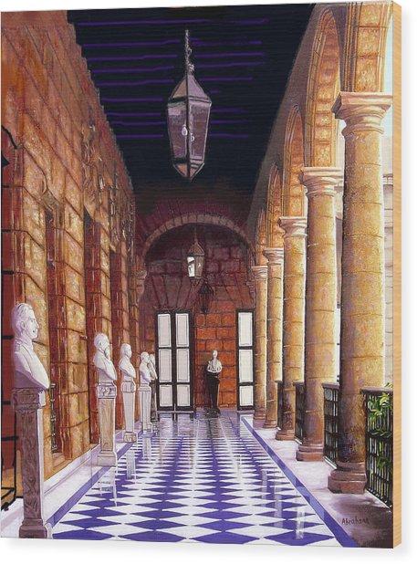 Palacio Wood Print by Jose Manuel Abraham