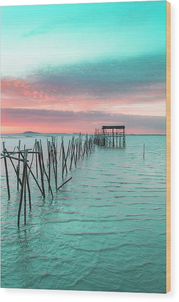 Palafitico 01 Wood Print