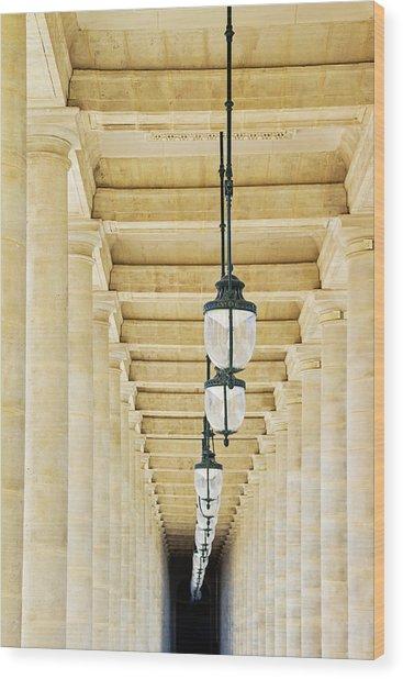 Palais-royal Arcade - Paris, France Wood Print