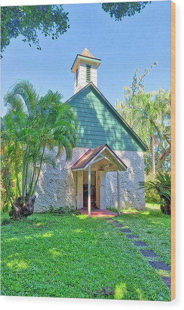 Wood Print featuring the photograph Palapala Ho'omau Congregational Church by Jim Thompson
