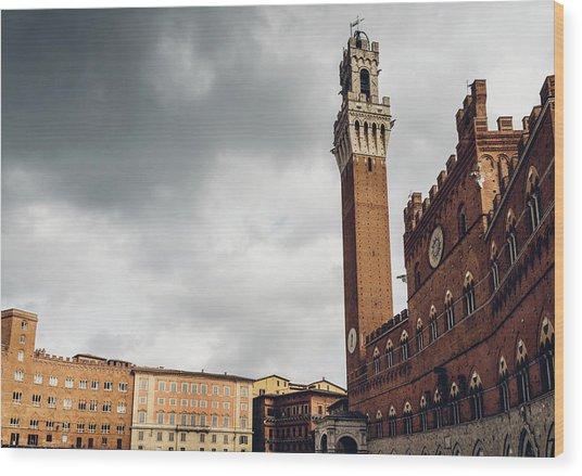 Palazzo Pubblico, Siena, Tuscany, Italy Wood Print