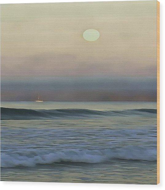 Pale Sunset Wood Print
