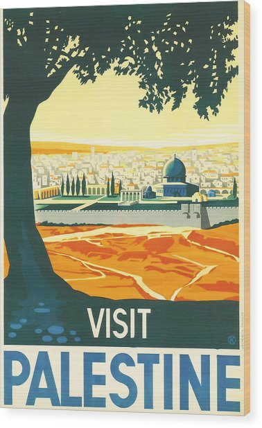 Palestine Wood Print
