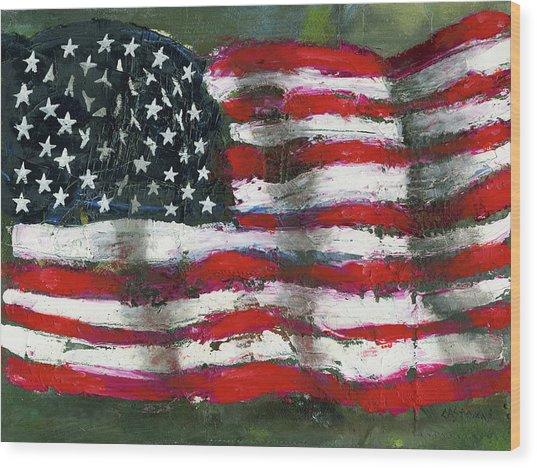 Palette Flag Wood Print