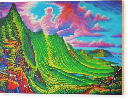 Pali Lookout Wood Print