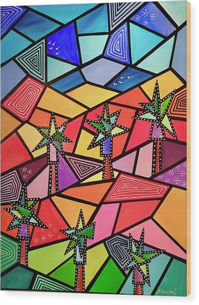 Palm Desert Wood Print