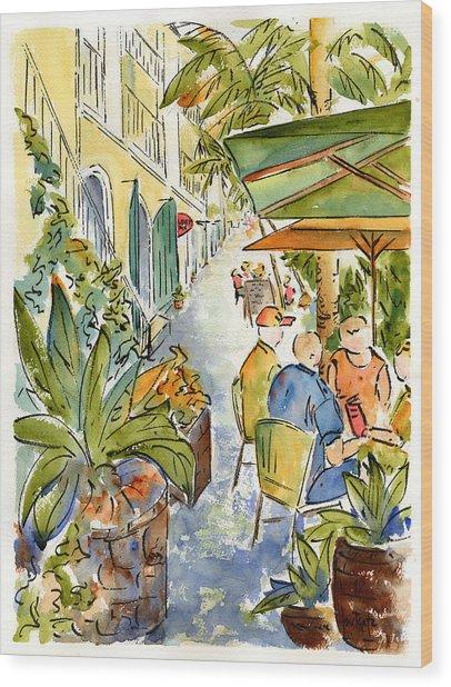 Palm Passage Wood Print