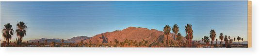 Palm Springs Sunrise Wood Print