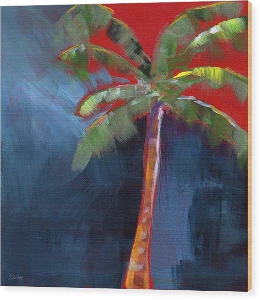 Palm Tree- Art By Linda Woods Wood Print