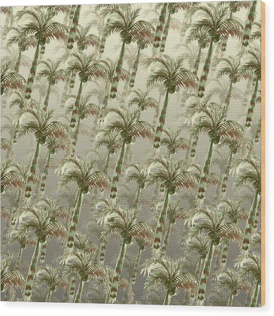Palm Tree Grove Wood Print