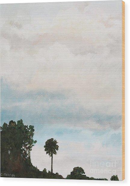 Palmetto Dawn  Wood Print by Carla Dabney
