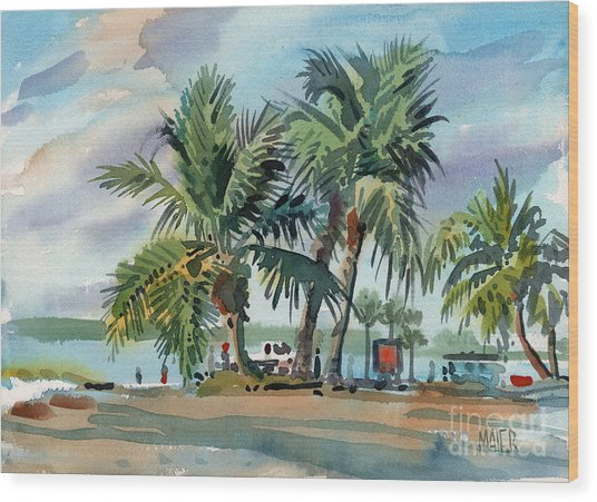 Palms On Sanibel Wood Print
