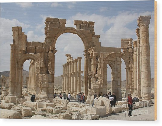 Palmyra Before...triumphal Arch Wood Print