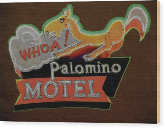 Palomino Motel Wood Print