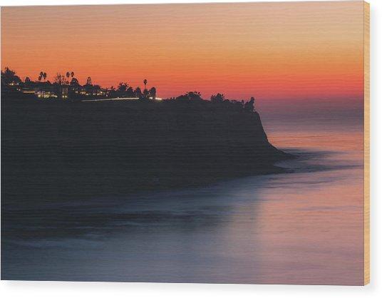 Palos Verdes Coast After Sunset Wood Print