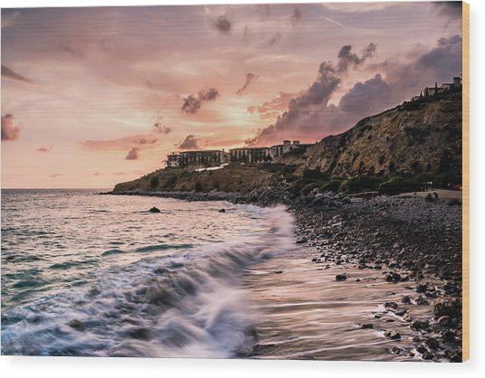 Palos Verdes Sunset Wood Print by Seascaping Photography