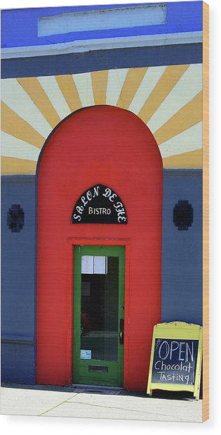 Palouse Door Wood Print by Sarah Hamilton