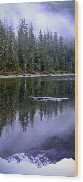 Pamelia Lake Reflection Wood Print