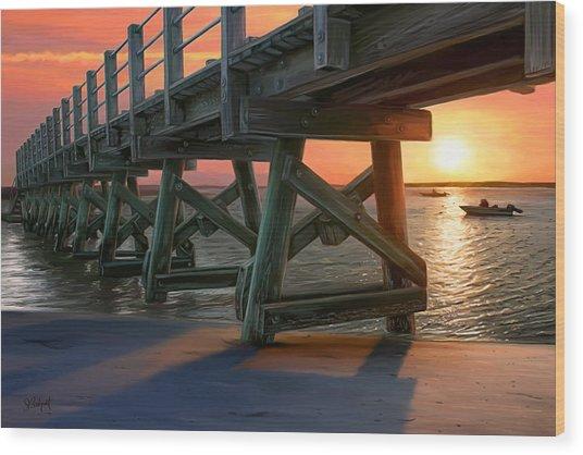 Pamet Harbor Sunset Wood Print