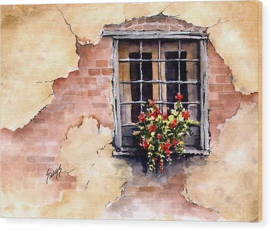 Pampa Window Wood Print