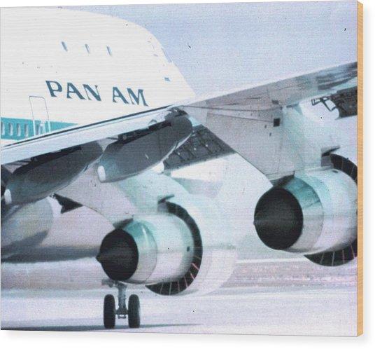 Pan Am 747 At Los Angeles International Airport Wood Print
