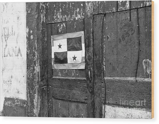 Panama Pride Mono Wood Print by John Rizzuto