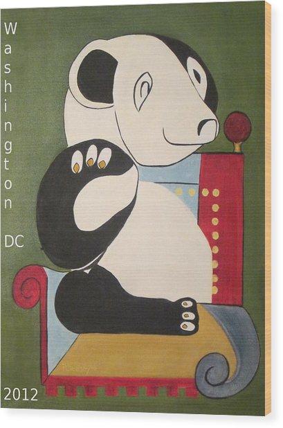 Panda Picasso Wood Print