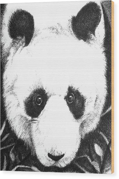 Panda Portrait Wood Print
