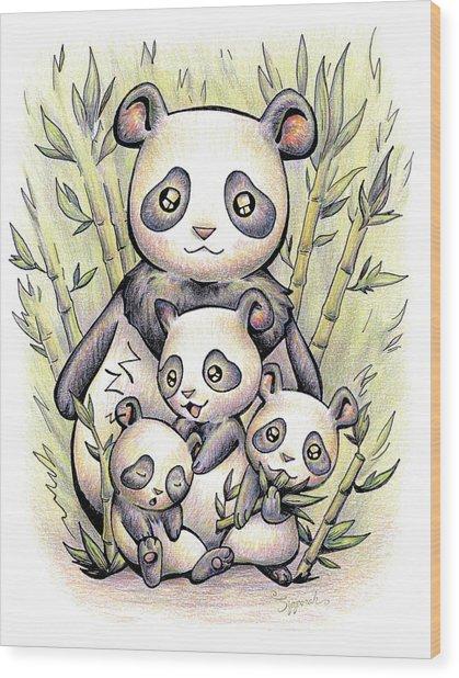 Endangered Animal Giant Panda Wood Print