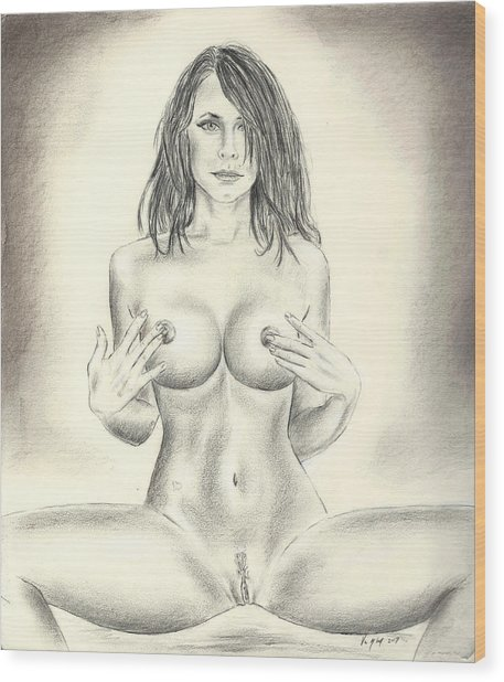 Pandora Full Nude Wood Print
