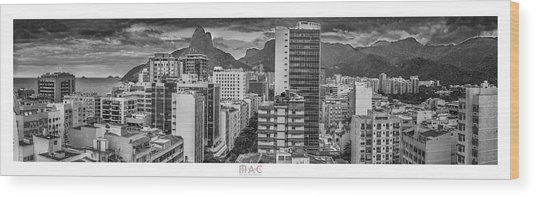 Panorama Leblon - Rio De Janeiro Wood Print