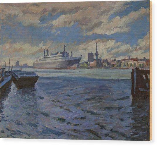 Panorama Rotterdam Wood Print