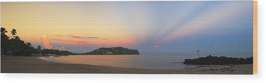 Panoramic 4- St Lucia Wood Print