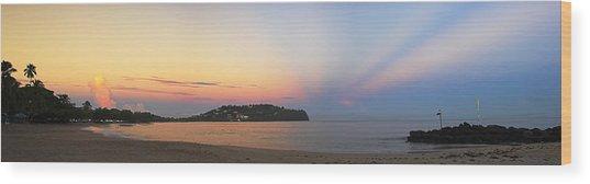 Panoramic 4- St Lucia Wood Print