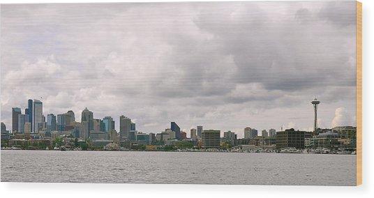 Panoramic Seattle Wood Print
