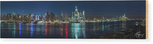Panoramic Skyline-manhattan Wood Print