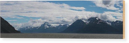 Panoramic View Of Beluga Point Wood Print