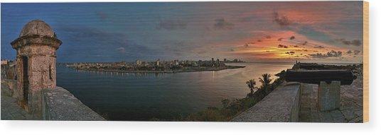 Panoramic View Of Havana From La Cabana. Cuba Wood Print
