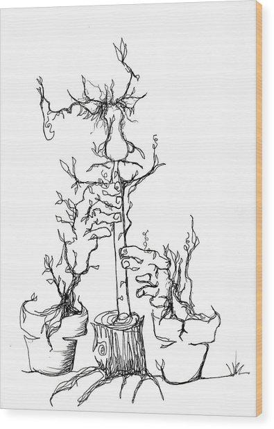 Pan's Fried Flute Wood Print