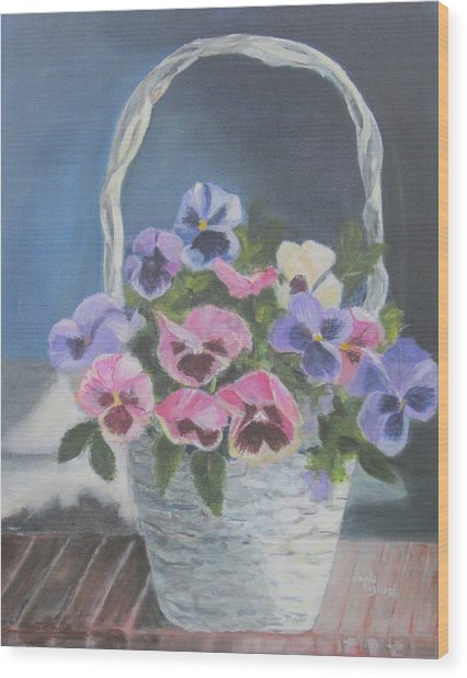 Pansies For A Friend Wood Print