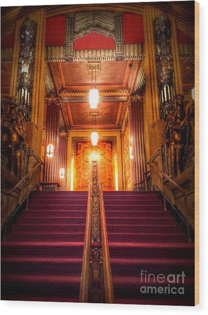 Pantages Theater's Grand Staircase Wood Print