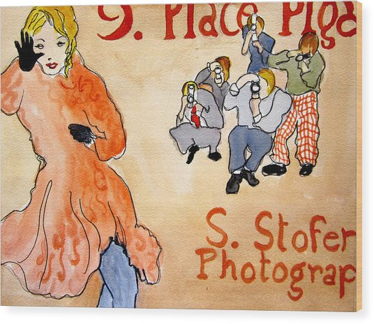 Paparazzi Wood Print by Suzanne Stofer
