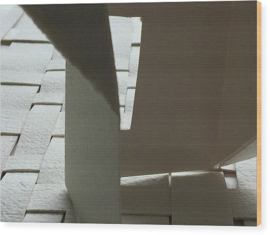 Paper Structure-1 Wood Print